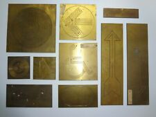 Lot of 10 New Hermes Brass Ornamentals & Other Templates Lot #2