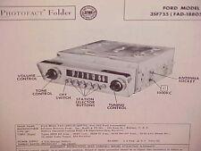 1953 FORD COURIER CRESTLINE VICTORIA SUNLINER CONVERTIBLE RADIO SERVICE MANUAL 2
