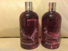 Molton Brown 2 x 300ml Blossoming Honeysuckle & White Tea Bath & Shower Gel NEW
