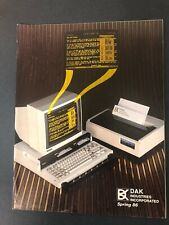VINTAGE DAK INDUSTRIES CATALOG SPRING 1986 AUDIO VIDEO ELECTRONICS