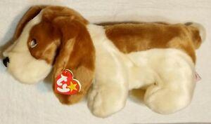 Ty Beanie Buddy TRACKER Plush Basset Hound Dog  1998 MWMT Retired Original Rare