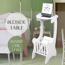 WPC Bedside Table Bedroom Round Storage Unit Organiser for Bedtime Reading Lamp