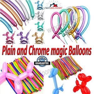New LONG MAGIC Balloons Different Colours Latex 260Q Traditional Modelling