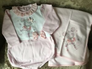 Baby girls romper wrap set 1 month 3-6 month romany