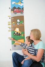 Growth Chart Wall Decal - Growth Chart Trucks