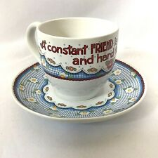 Mary Engelbreit Tea Cup & Saucer Constant Friend Is A Thing Rare Hard To Find Me