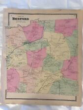 Town of Bedford 1867 Lithograph by F.W. Beers