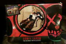 Harley Quinn Throw Blanket w/ Sleeves DC Comics Suicide Squad OS Adult NEW