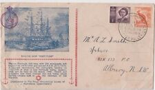 Stamps 1949 Royal Geographical Society Queensland sailing ship Fortitude cover