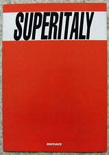 Ducati 750 ss supersport moto sales brochure c1993