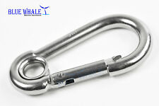 316 S.S. Carabiner Snap Hook w/ Ring (E: 3-1/2�) Us Bl31700994
