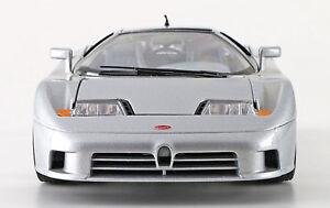 (Rare Silver Color) 1991 Bburago Bugatti-EB110 GT 1:18 Die Cast (Italy) In Box