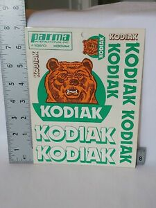 Parma KODIAK Decal Sticker Sheet #10613