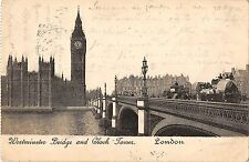 BR94410 westminster bridge and clock tower london chariot  uk
