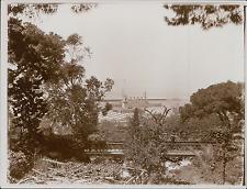 Espagne, Gibraltar, Jardins d'Alameda, Vue sur le Port  Vintage silver prin