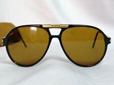 Persol Carson/57 Carson Sunglasses Aviator Brown lens Black Frame italy