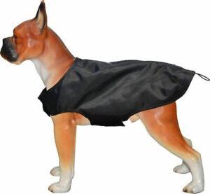 Milan Dog Coat Fleece Lined Waterproof Jacket Outdoor Rain Coat Black XS & 4XL