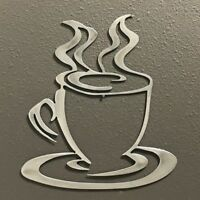 Coffee Cup Aluminum Metal Wall Art Skilwerx 8 x 7 Caffeine 11