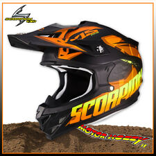 Casco Scorpion Vx-15 Evo Air Defender Matt Black-orange talla S