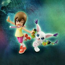Anime Digimon Adventure Yagami Hikari & Tailmon Set PVC Figure No Retail Box