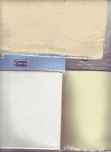 UPDATED! 14 Count Aida Cross Stitch Fabric White Ivory Cream Choose Colour/Size