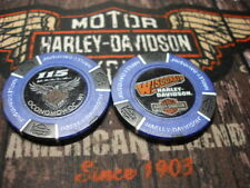 Blue & Black 115th Anniversary Poker Chip Wisconsin Harley Davidson