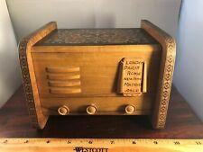 RARE Vintage Spinning Ballerina Radio Shaped Cigarette Holder Music Box VIDEO
