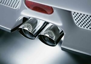 MINI Genuine JCW Exhaust Tailpipe Trim Tip Finisher Chrome R52 R53 18107556986