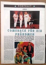 ABBA 'portrait' 1992 GERMAN magazine ARTICLE / clipping
