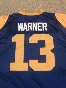 Kurt Warner Mitchell & Ness 2000 Throwback Rams Jersey Size 48