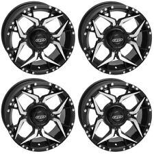 4 ATV/UTV Wheels Set 14in Quadboss Shocker Machined 4/110 5+2 VIK