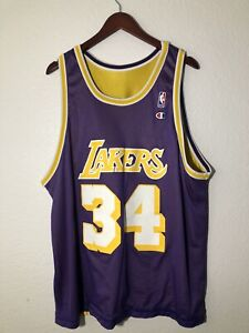 Vintage  Champion Shaq O'Neal Jersey LA Lakers  Sz 52 XXL Reversible Rare