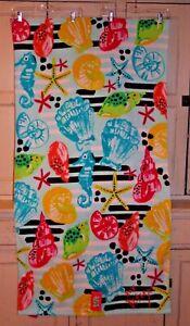 "NEW - 30""X60"" Kids Seashore Shells Beach Towel - Betsey Johnson - 100% Cotton"