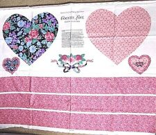 Hearts 'Country Love' Pillow Cotton Craft Panel,Springs Inds,Old Country Store