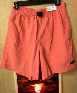 Columbia women's nylon shorts salmon size L pockets belted