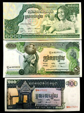 Cambodia 100, 500,1000 Riels Banknote World Paper Money UNC Currency Bill Note