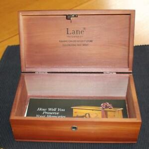 Vintage Miniature Lane Blanket Hope Chest Unused With Key Brochure