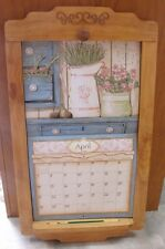 2018 Lang / Legacy Calendar PINE FLIP FRAME Wooden New Display your calender