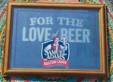 New listing Vtg Samuel Adams Boston Lager For The Love of Beer Mirror Back Advertising Sign