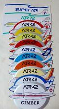 14 Autocollants de compagnies aérienne clients de l'avionneur Aérospatiale - ATR