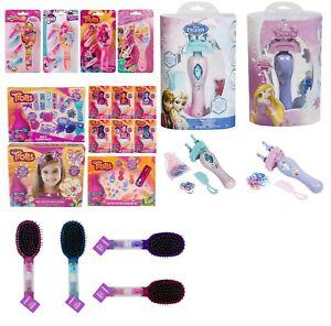 Kids HairBrush Girls Hair ClipSet My little Pony,Disney Princess,Troll Xmas Gift