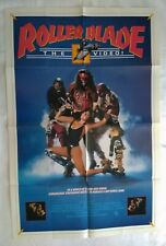 Roller Blade vintage original Home Video 1 Sheet Poster New World Video 1986
