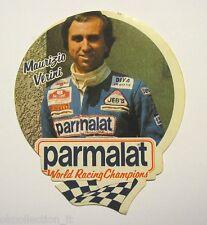 ADESIVO AUTO F1 anni '70 / Old Sticker MAURIZIO VERINI Parmalat (cm 9x11)