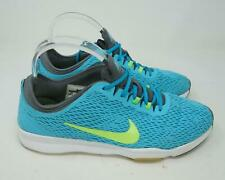 Nike Training Zoom Fit Athletic Shoes Lime Green/ Blue Women's US 9.5