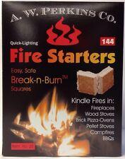 144 Wood Coal Fire Starters Camp Big Green Egg Kamado Bbq Smoker Pit Food Safe
