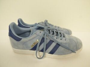 Ladies Light Blue Suede Adidas Gazelle Lace Up Trainers - UK Size 7.5  A41