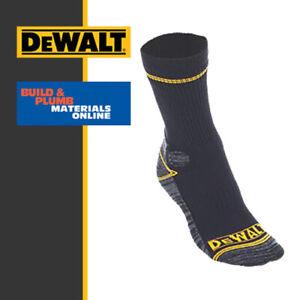 2 x Pairs DeWalt Work Socks Pro Comfort Industrial Hydrovent Workbook Black 7-11