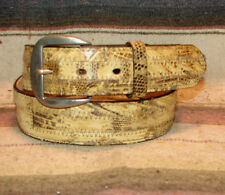 Vintage Tony Lama Natural Brown Lizard / Leather Western Dress Belt 30 New