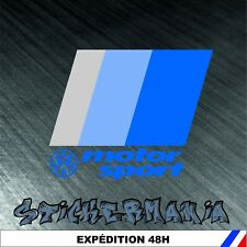 sticker décal autocollant adhésif automobile voiture: volkswagen motorsport