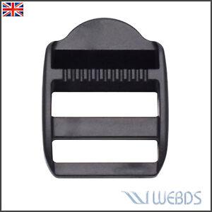 10 X 30mm Webbing Plastic Ladder Slider Adjust Lock Buckles for Backpack Straps